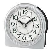 Seiko QHE165S Analogue Beep Alarm Clock|Beep Alarm/Snooze|Lumibrite hands|Silver