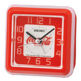 Seiko QHE906R Coca-Cola Standing Beep Alarm Clock|LED light|Snooze|Analogue|Red