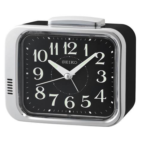 Seiko QHK049A Bell Alarm Clock|Analogue|Arabic Numerals|Lumibrite Hands|Black Thumbnail 1