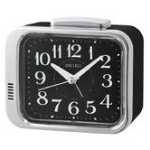 Seiko QHK049A Bell Alarm Clock|Analogue|Arabic Numerals|Lumibrite Hands|Black
