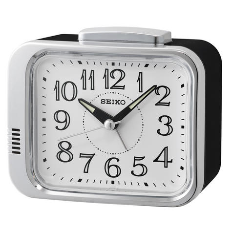 Seiko QHK049S Bell Alarm Clock|Analogue|Arabic Numerals|Lumibrite Hands|White Thumbnail 1
