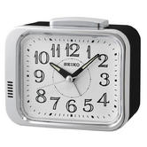 Seiko QHK049S Bell Alarm Clock|Analogue|Arabic Numerals|Lumibrite Hands|White