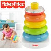 Fisher-Price Rock-a-Stack For Grasping & Stacking | Colorful Rings-Rattling Beads | Colourful Pyramid Ring Set
