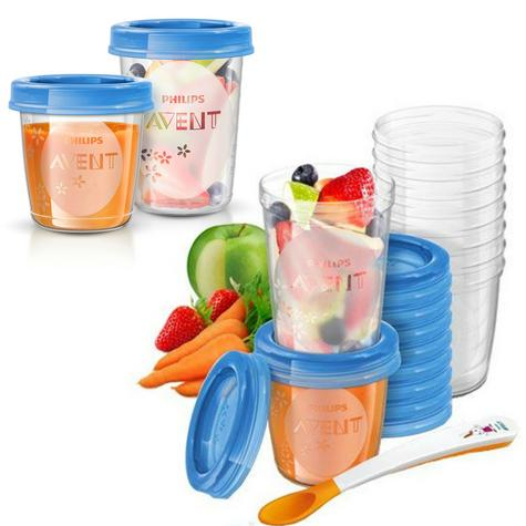 Philips Avent Toddler Food Storage Set | Leak-Proof Baby Food Containers | 20Pcs | New Thumbnail 1