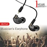 MEE Audio M6PRO 2nd Gen Musicians In Earphone | Noise-Isolating | Cable+Case | Black