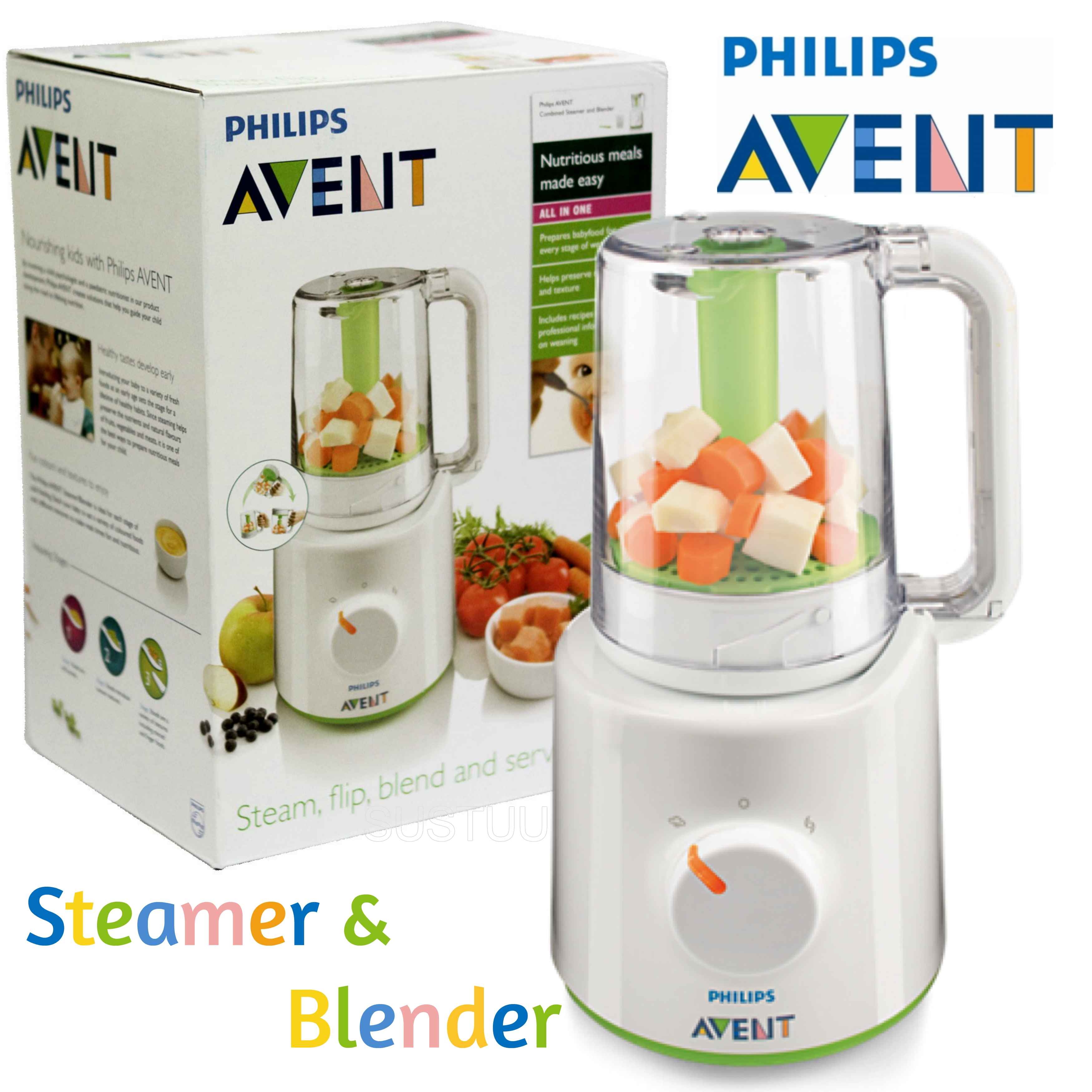 Philips Avent Combined Steamer & Blender|BPA Free Processor|SCF870/21|For Baby