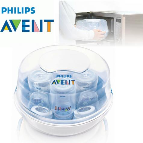 Philips Avent Microwave Steam Baby feeding Bottle Steriliser | BPAFree | Quick | New Thumbnail 1