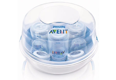 Philips Avent Microwave Steam Baby feeding Bottle Steriliser | BPAFree | Quick | New Thumbnail 2