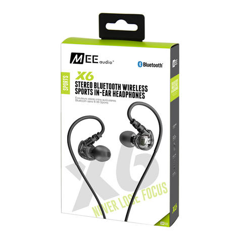 MEE Audio X6 Bluetooth Wireless Sports In-Ear Headset|Sweat Res.|Clear Sound - NEW Thumbnail 6