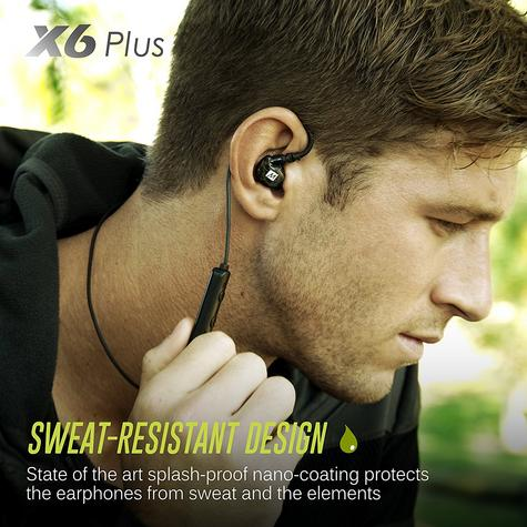 MEE Audio X6 Bluetooth Wireless Sports In-Ear Headset|Sweat Res.|Clear Sound - NEW Thumbnail 8