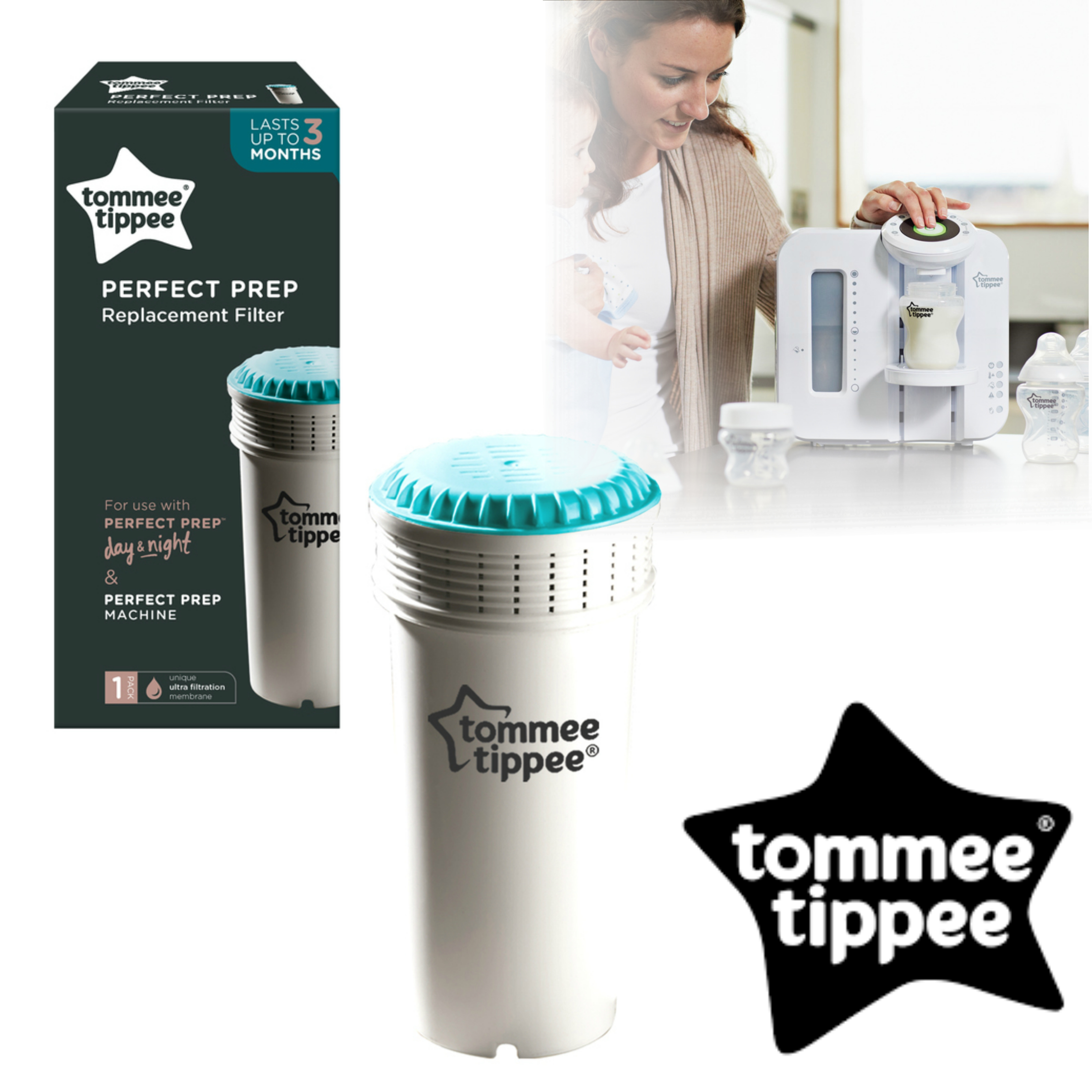 Tommee Tippee Perfect Prep Replacement Filter | Cleans Water for Baby's Formula | New
