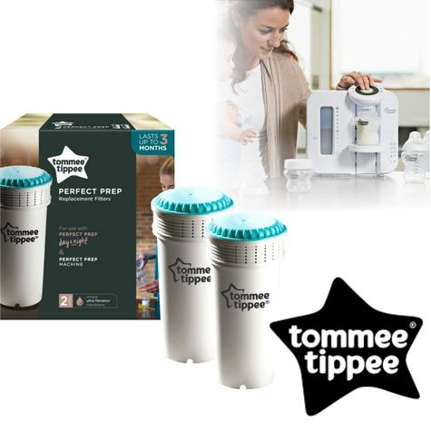 Tommee Tippee Perfect Prep Replacement Filter (2Pk) | Cleans Water for Baby's Formula | New Thumbnail 1