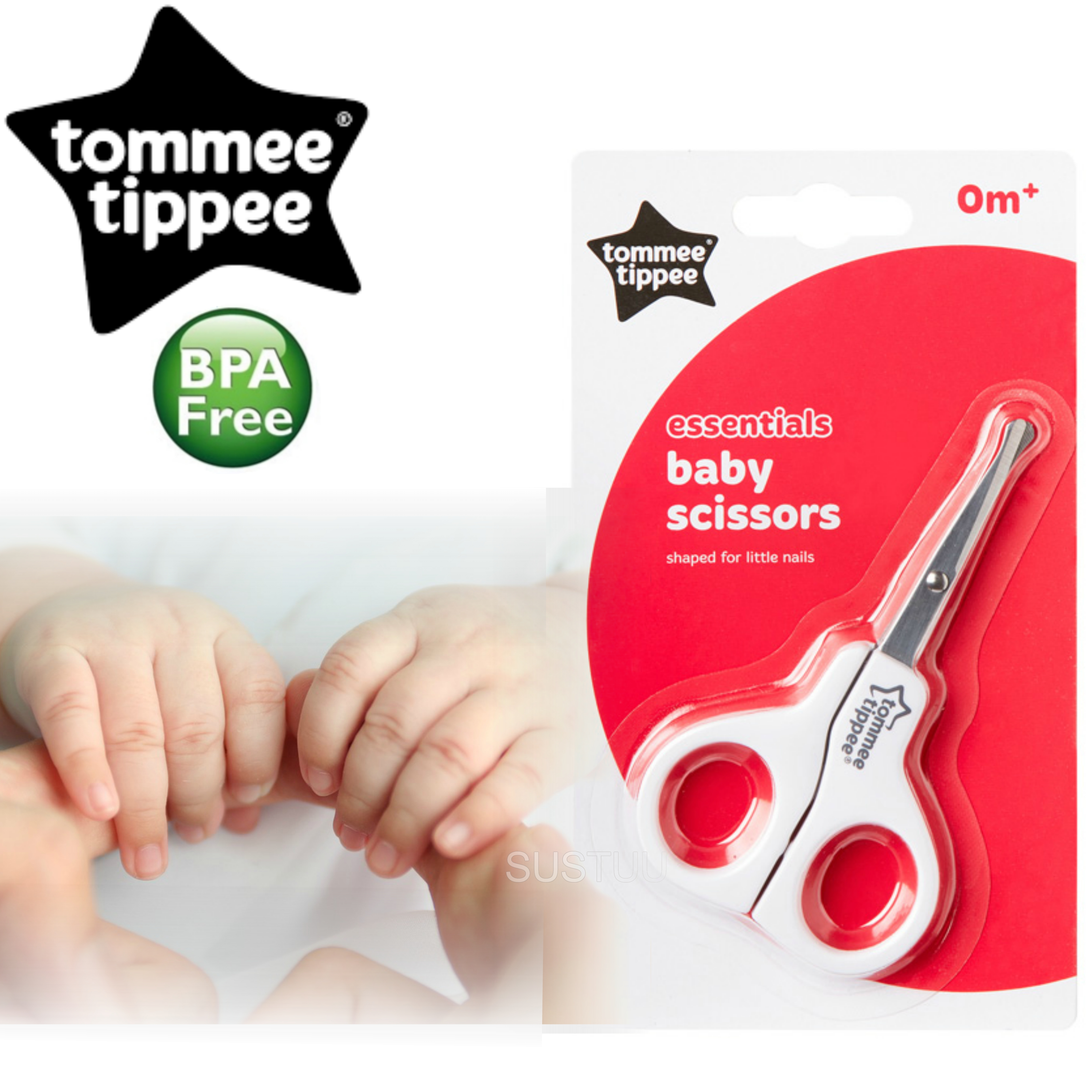 Tommee Tippee Essentials Basics Baby Nail Scissors | Designed For Little Nails-0m+
