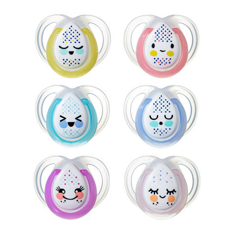 Tommee Tippee  Night Time Soother 0-6m 2Pk | Supports Natural Oral Develpment | New Thumbnail 2