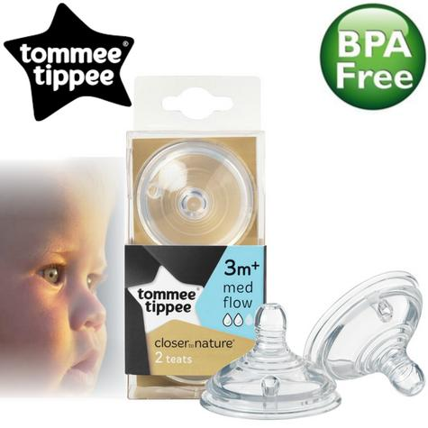 Tommee Tippee Closer to Nature Easi-Vent Medium Flow Teat | Soft Silicone-2Pk Thumbnail 1