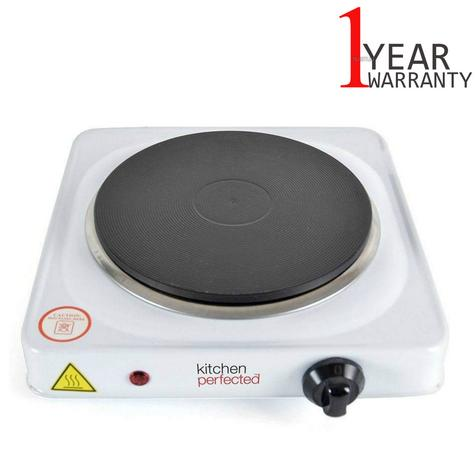 Lloytron E4102WH Kitchen Perfected Single Electric Induction Hotplate | 1500W | White Thumbnail 1