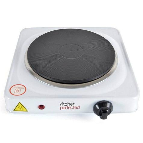 Lloytron E4102WH Kitchen Perfected Single Electric Induction Hotplate | 1500W | White Thumbnail 2
