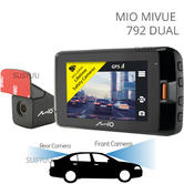 Mio Mivue 792Dual | 2.7'' GPS Car Dash & Rear Camera | WIFI/Starvis Sensor/HD Record