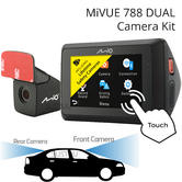 Mio Mivue 788 DUAL 2.7'' HD Recording DashCam + Rear Camera | GPS Tracking | Wifi |