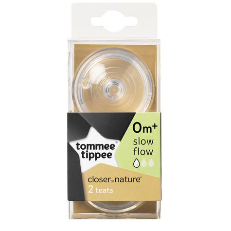 Tommee Tippee Closer to Nature Easi-Vent Slow Flow Teat | Soft Silicone-Pack of 2 Thumbnail 5