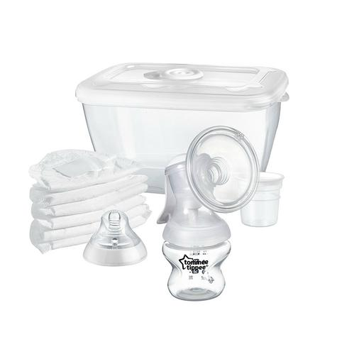 Tommee Tippee Closer To Nature Manual Breast Pump   Milk Suction Bottle   Portable   New Thumbnail 2