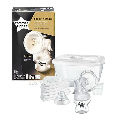 Tommee Tippee Closer To Nature Manual Breast Pump | Milk Suction Bottle | Portable | New Thumbnail 4