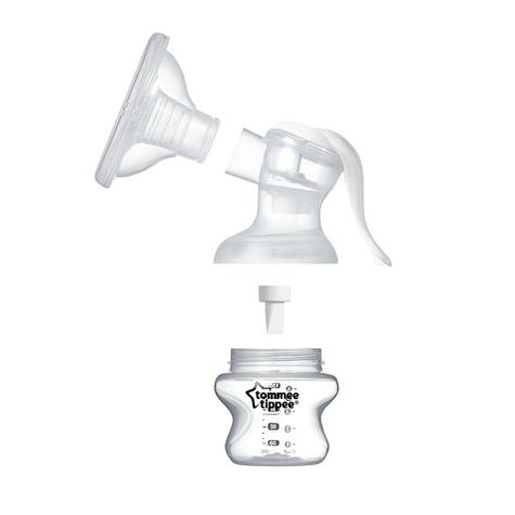 Tommee Tippee Closer To Nature Manual Breast Pump | Milk Suction Bottle | Portable | New Thumbnail 5
