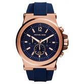 Michael Kors Dylan Men's Watch|Navy Blue Chrono Dial|Blue Silicone Strap|MK8295