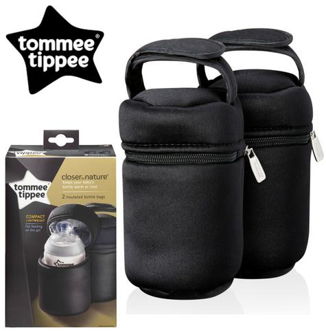 Tommee Tippee Closer to Nature Insulated Baby Bottle Carrier 2Pk |  Warm & cold | New Thumbnail 1
