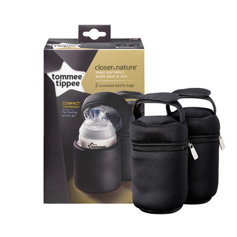 Tommee Tippee Closer to Nature Insulated Baby Bottle Carrier 2Pk |  Warm & cold | New Thumbnail 2