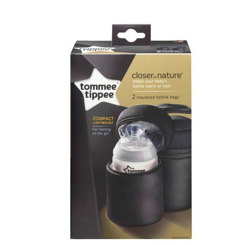 Tommee Tippee Closer to Nature Insulated Baby Bottle Carrier 2Pk |  Warm & cold | New Thumbnail 7