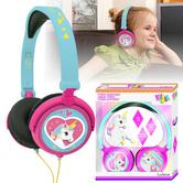 Lexibook HP017 Unicorn Stereo Traveller Headphones|Foldable|Volume Limiter|NEW