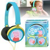 Lexibook HP015PP Peppa Pig Stereo Traveller Headphones Foldable Volume Limiter