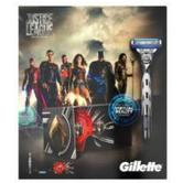 Gillette Mach3 Turbo Razor + 2 Blade Refills | VR Headset | Justice League Gift Pack