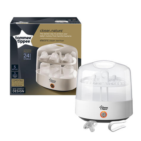 Tommee Tippee Closer to Nature Electric Steam Steriliser | Chemical-Free | Compact Thumbnail 2