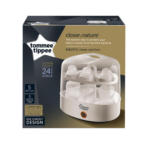 Tommee Tippee Closer to Nature Electric Steam Steriliser | Chemical-Free | Compact Thumbnail 5