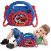 Lexibook RCDK100SP Kid's Spider-Man CD Player|2 Microphones|LED display|Blue-Red