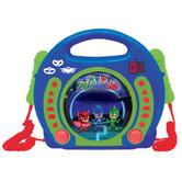 Lexibook RCDK100PJ Masks CD Player|2 Microphones|LED display|Blue-Green Colour