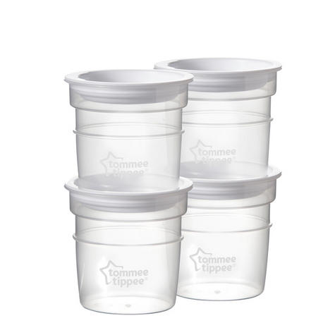 Tommee Tippee Closer to Nature Breast Milk Storage Containers 4Pk | Pots | In Fridge | New Thumbnail 2