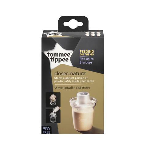 Tommee Tippee Closer to Nature Milk Powder (Formula) Dispensers 6Pk | Pots | New Thumbnail 8