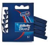 30 X Gillette Blue II Fixed 5s | Men's Disposable Razor | 2 Thin twin Comfort Blades