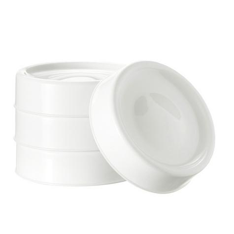 Tommee Tippee Closer to Nature Milk Storage Lids 4Pk | BPA-Free | Microwave Safe | New Thumbnail 3