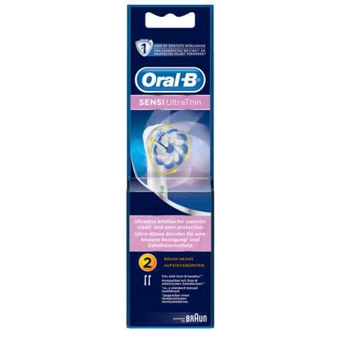 Oral-B Sensi Clean Electric Toothbrush Replacement Heads (Pack of 2) | Round Head Thumbnail 5
