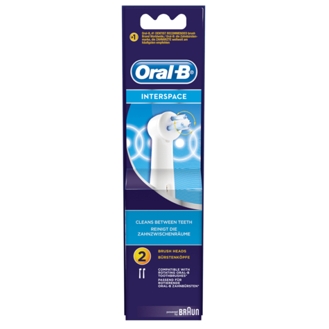 2 X Oral-B Interspace Electric Toothbrush Replacement Heads | Dental Accessories Thumbnail 4