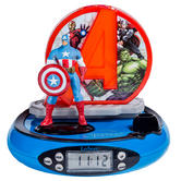 Lexibook RP500AV Kids Avengers Projector Alarm Clock|FM Radio|Digital LCD Screen