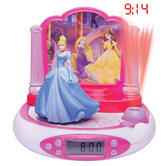 Lexibook RP510DP Disney Princess Projector LCD Alarm Clock|FM Radio|Digital|NEW