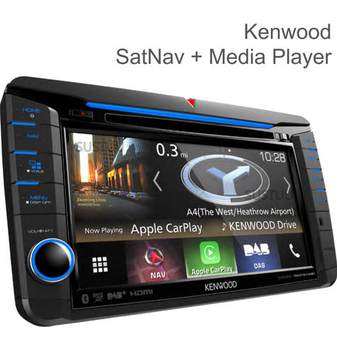 Kenwood 7'' Navigation + Multimedia Player | Bluetooth & DAB+/Radio/Mp3/USB/CD/DVD Thumbnail 1