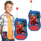 Lexibook TW12SP Spider-Man Walkie-Talkies For Kid's|100m Outdoors Range|Blue/Red