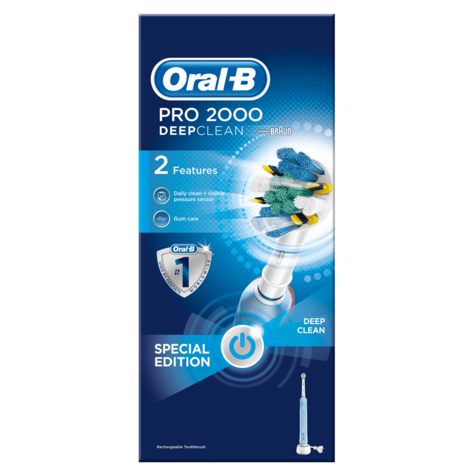Oral-B Pro 2000 FlossAction Deep Clean Rechargeable Electric Toothbrush | 2 Modes Thumbnail 5