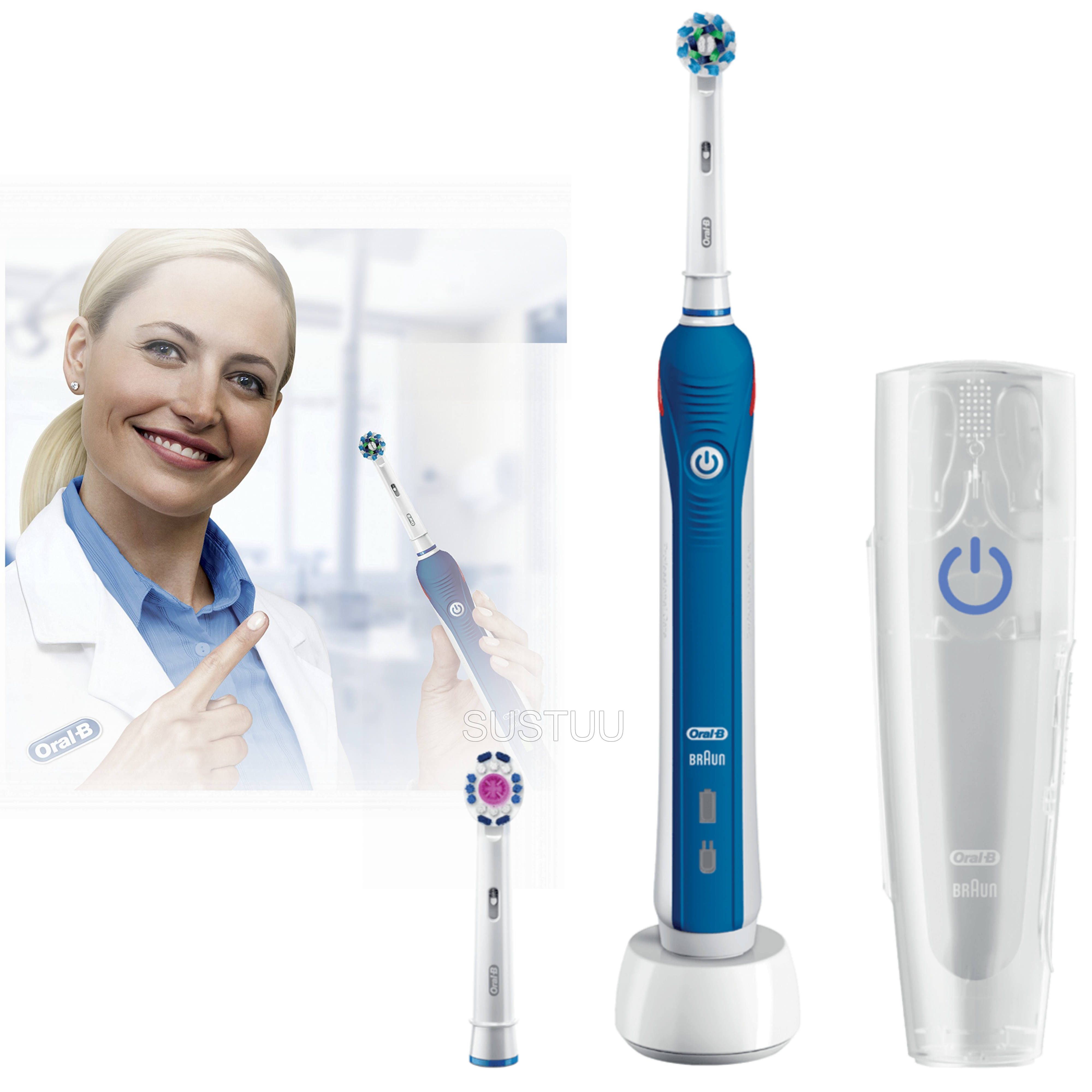 Oral-B Pro3 3000 Cross Action Electric Rechargeable Toothbrush | Pressure Control